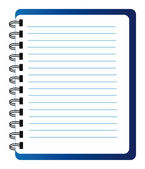 Vector notepad — Stockfoto