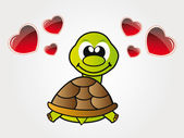 Gelukkig weinig schildpad uit liefde — Stockfoto