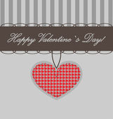 Vector valentine background with heart — Stockvektor