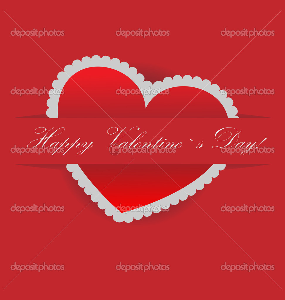 Vector valentines day card with s[ace for ypur text  — Imagens vectoriais em stock #8611400