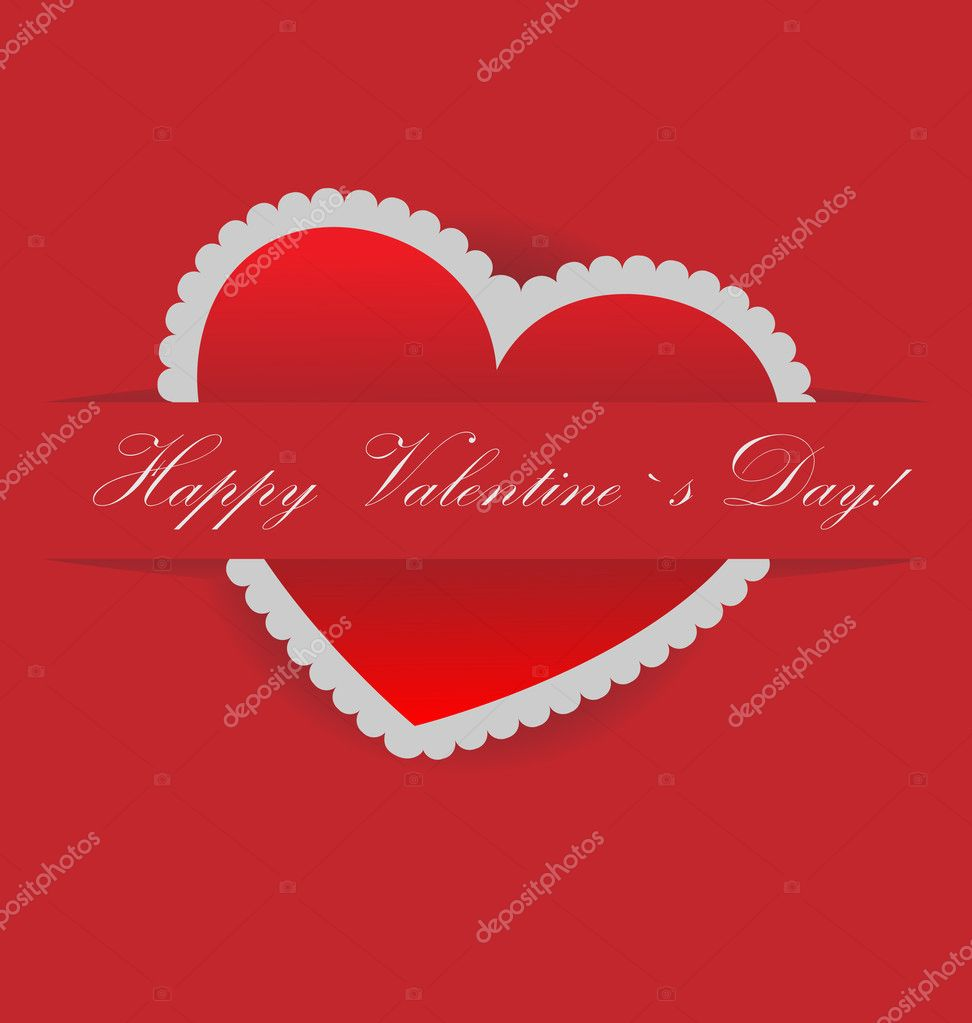 Vector valentines day card with s[ace for ypur text   Stok Vektr #8611400