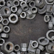 Stock Photo: Nuts and washers exposure
