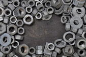 Nuts and washers exposure — Stock Photo
