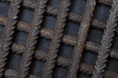 Steel reinforcing strength and endurance — 图库照片