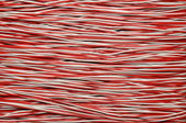 Red and white copper cable — 图库照片