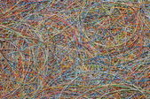 Tangle of colored wires — Stock Photo