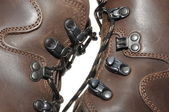 Shoes on mountain expeditions — Stock Photo