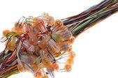 通信ケーブル接続 — ストック写真