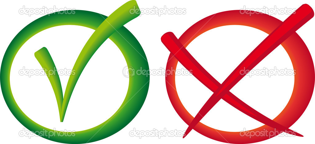 Yes no vote sign — Stock Vector © Zetor2010 #9362422