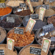 Spices at the market — Stock Photo