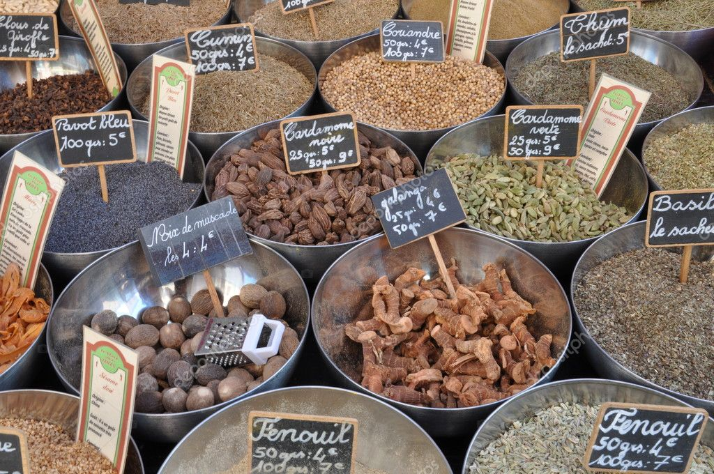 Spices on the market in Provance France — Stock Photo #9383029