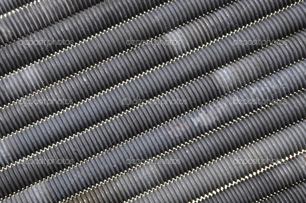 Threaded bolts, components of steel construction  Stock Photo #9875908