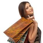 chica con bolsas — Foto de Stock