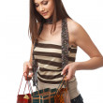 Mädchen mit Taschen — Stockfoto