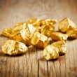 Gold nuggets — Stockfoto #10447624