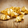 Foto de Stock  : Gold nuggets