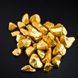 Gold nuggets — Stock Photo #10447631