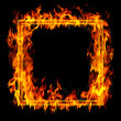 Fire frame - Stock Photo