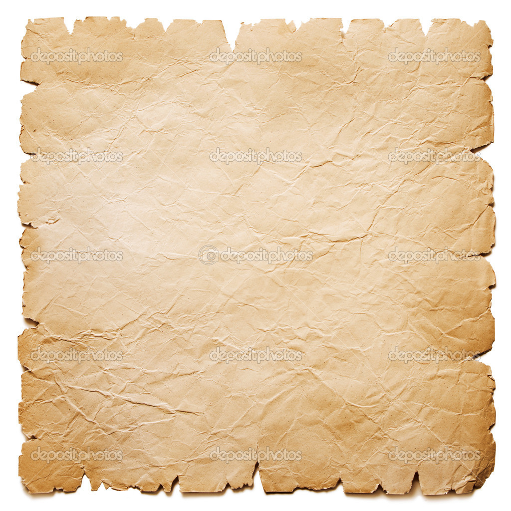Old paper sheet isolated on white — Stock Photo #8035034