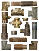 Pieces of pipe — Stock Photo