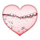 Herz aus wasser — Stockfoto