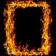 Fire frame — Stock Photo