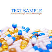 Tablets with capsules — Stock Photo