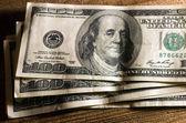 100 dolarů bankovky — Stock fotografie