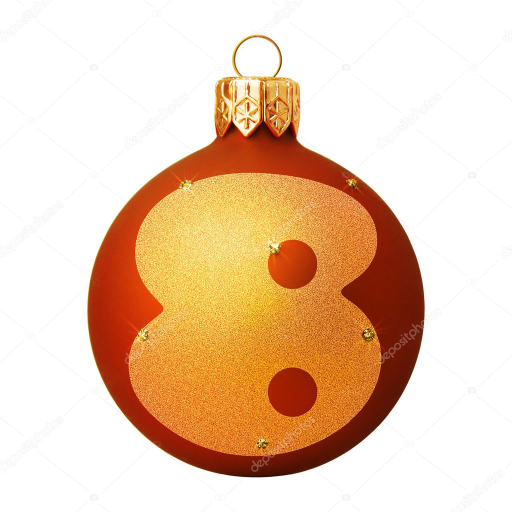 Red Christmas ball with a letter  Stock Photo #8138085