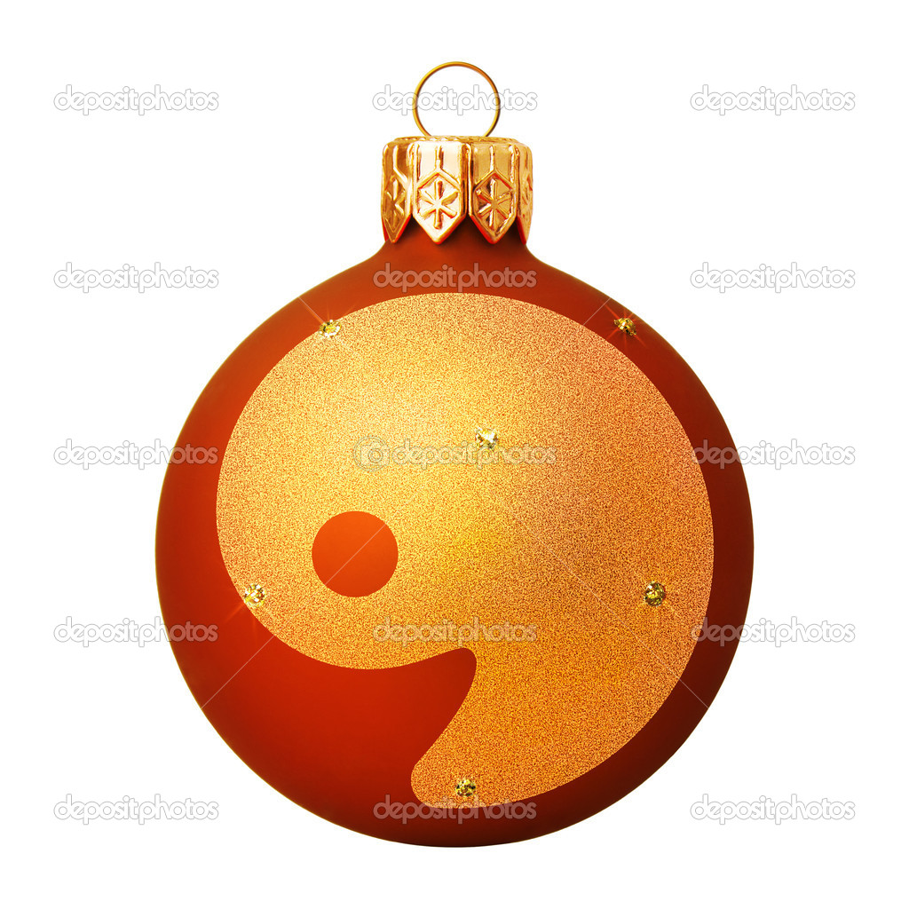 Red Christmas ball with a letter  Stock Photo #8138099