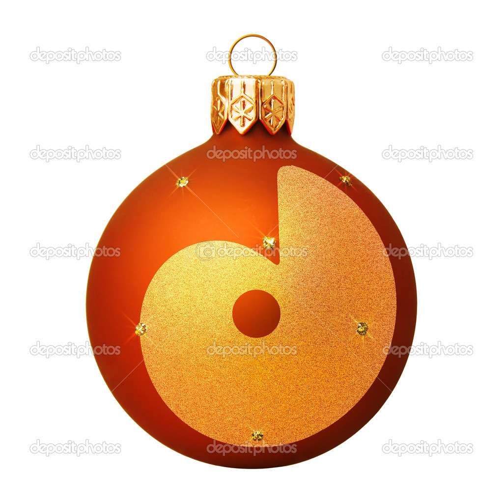Red Christmas ball with a letter — 图库照片 #8138135