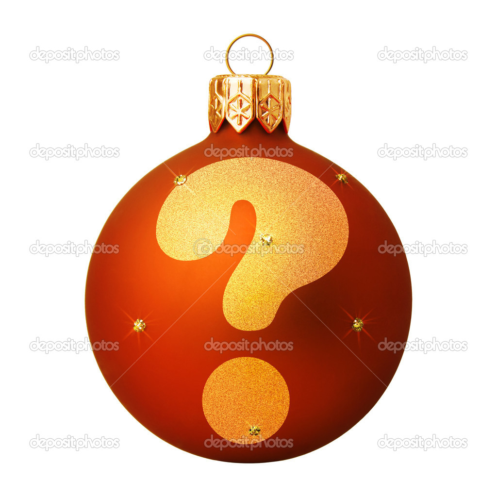 Red Christmas ball with a letter — Stock Photo #8138194