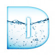 Letter of water — Stock Photo