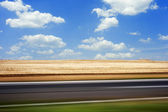Road in motion — Stock Photo