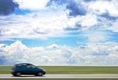 High speed car — Stock Photo