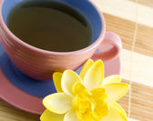 Cup with tea — Stock Photo