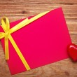 Gift card with bow — Stock Photo