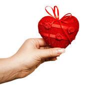 Heart in the hand — Foto de Stock