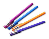 Kolorowe długopisy — Zdjęcie stockowe