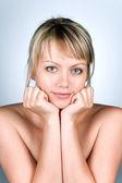 Portret mooie vrouw — Stockfoto