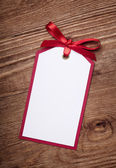 Card with bow — Stock Photo