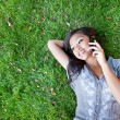 Asian student on the phone — Stock Photo #8803218