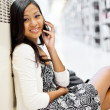 Asian student on the phone — Stock Photo #8803274