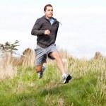 Mixed race man running — Stock Photo #8807371