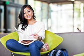 Asian student on campus — Stock Photo
