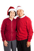 Senior aziatische paar vieren van kerstmis — Stockfoto