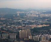 Cityscape at dusk — Stock Photo