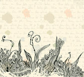Vintage letter background — Stock Vector