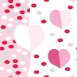 Romantic seamless pattern with hearts — Stock Vector #7984197