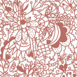 Royalty-Free Stock Imagen vectorial: Floral valentine seamless wallpaper